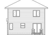 House Plan Design - Modern Exterior - Rear Elevation Plan #23-2705