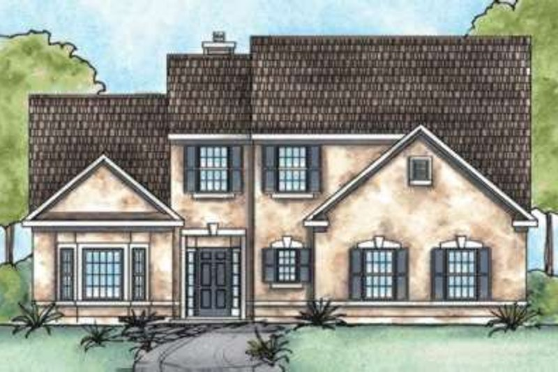 Traditional Exterior - Front Elevation Plan #20-1801 - Houseplans.com
