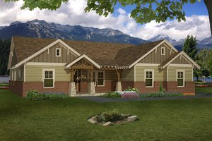 Ranch Exterior - Front Elevation Plan #932-353
