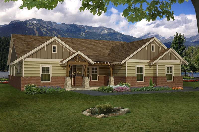 Architectural House Design - Ranch Exterior - Front Elevation Plan #932-353