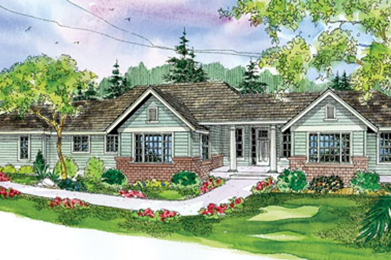 Craftsman Exterior - Front Elevation Plan #124-754