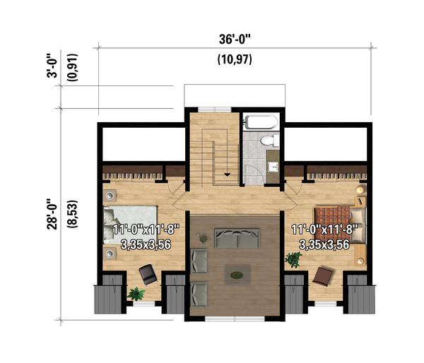 Dream House Plan - Cottage Floor Plan - Upper Floor Plan #25-4921