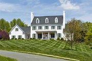 Colonial Style House Plan - 4 Beds 3 Baths 4263 Sq/Ft Plan #137-247 Exterior - Front Elevation