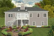 Craftsman Style House Plan - 4 Beds 4 Baths 1700 Sq/Ft Plan #56-628 Exterior - Rear Elevation