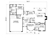 Traditional Style House Plan - 5 Beds 2.5 Baths 2098 Sq/Ft Plan #40-385