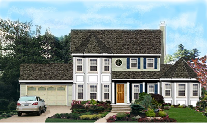 Home Plan - Traditional Exterior - Front Elevation Plan #3-204
