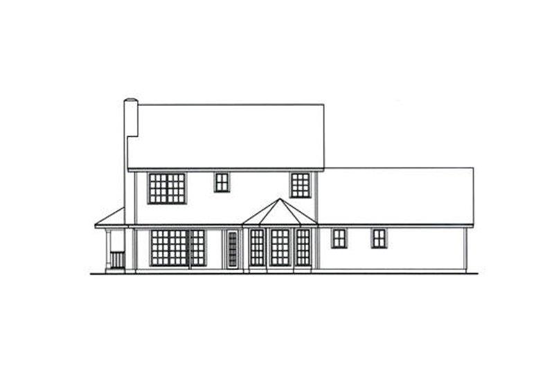 Southern Exterior - Rear Elevation Plan #42-394 - Houseplans.com