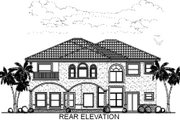 Mediterranean Style House Plan - 6 Beds 4.5 Baths 4881 Sq/Ft Plan #420-291 Exterior - Rear Elevation