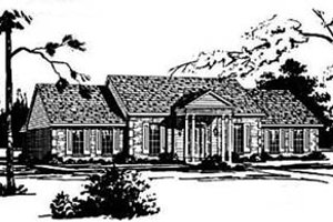 Traditional Exterior - Front Elevation Plan #36-198