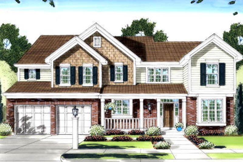 Traditional Exterior - Front Elevation Plan #46-417 - Houseplans.com