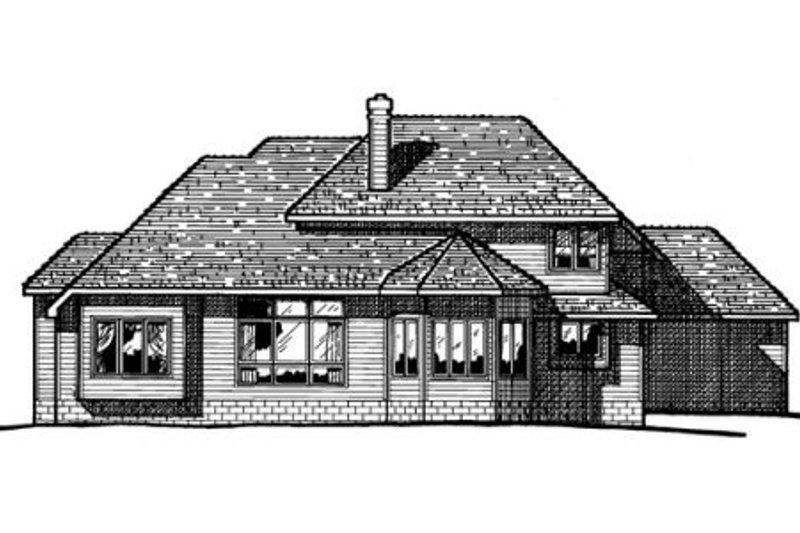 European Exterior - Rear Elevation Plan #20-284 - Houseplans.com