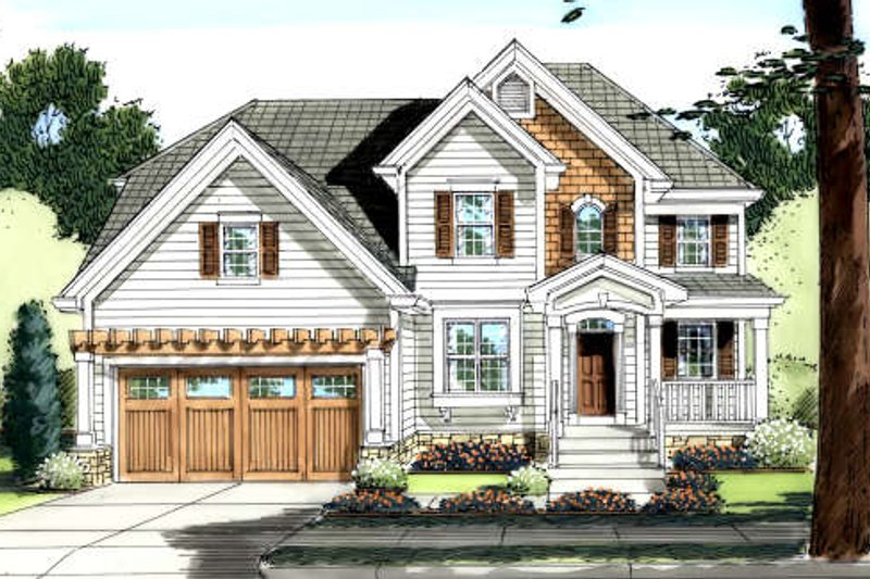 Traditional Exterior - Front Elevation Plan #46-426