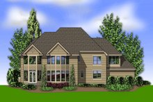 Dream House Plan - Traditional Exterior - Rear Elevation Plan #48-621