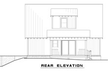 Cabin Exterior - Rear Elevation Plan #923-9