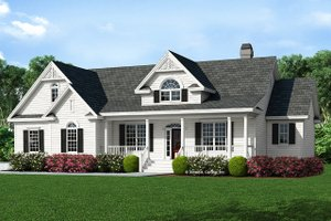 Dream House Plan - Country Exterior - Front Elevation Plan #929-528