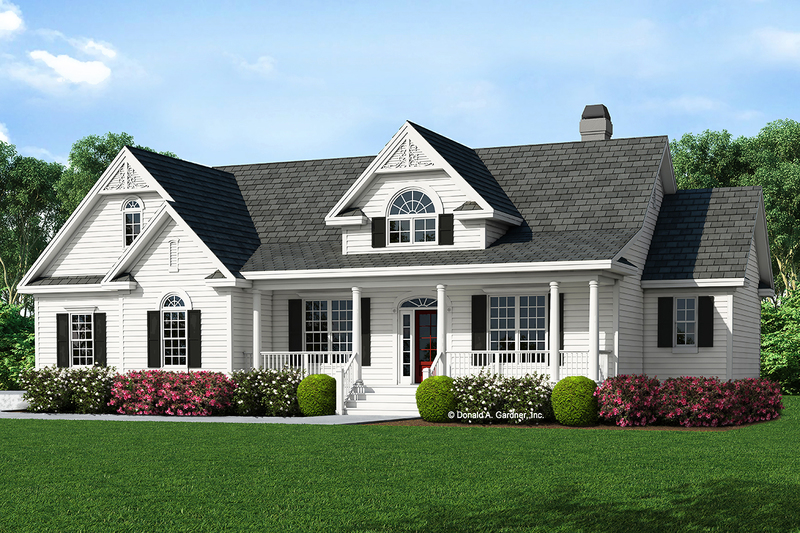 Country Exterior - Front Elevation Plan #929-528