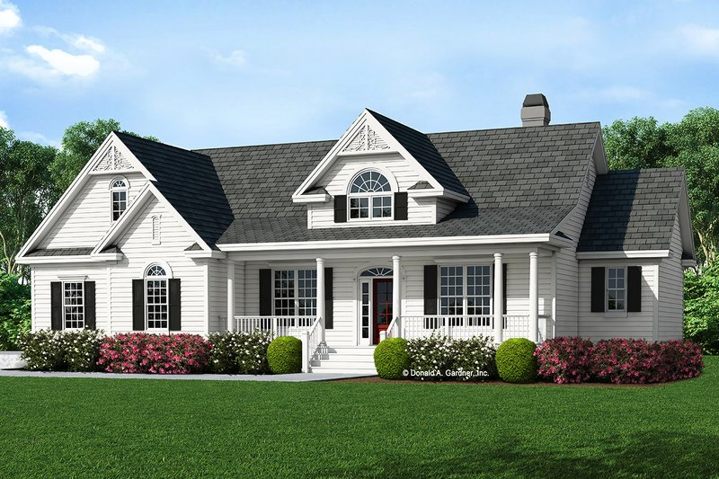 Country Style House Plan - 3 Beds 2 Baths 1677 Sq/Ft Plan #929-528 Exterior - Front Elevation