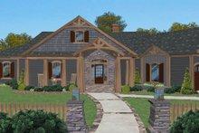 Cottage Exterior - Front Elevation Plan #56-716