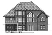 Traditional Style House Plan - 3 Beds 2.5 Baths 2581 Sq/Ft Plan #70-413 Exterior - Rear Elevation