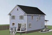 Country Style House Plan - 3 Beds 2.5 Baths 2124 Sq/Ft Plan #79-263 Exterior - Other Elevation