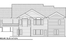 Dream House Plan - Traditional Exterior - Rear Elevation Plan #70-1003