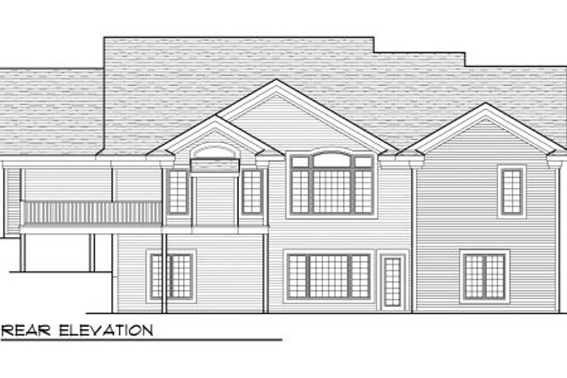 Traditional Exterior - Rear Elevation Plan #70-1003 - Houseplans.com
