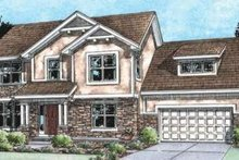 Architectural House Design - Traditional Exterior - Front Elevation Plan #20-1797