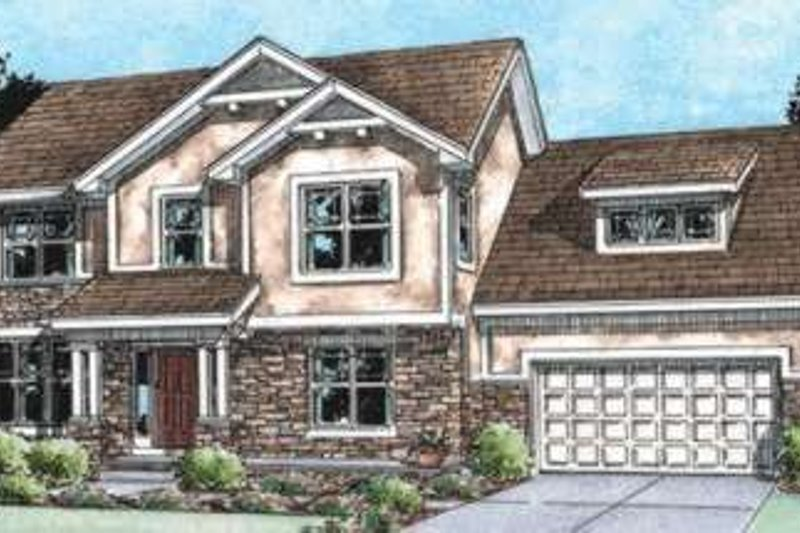 Home Plan - Traditional Exterior - Front Elevation Plan #20-1797