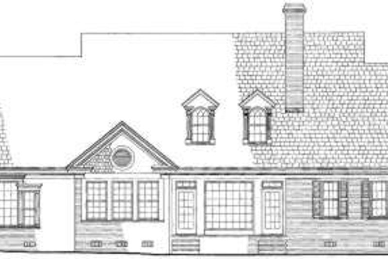 Colonial Exterior - Rear Elevation Plan #137-228 - Houseplans.com