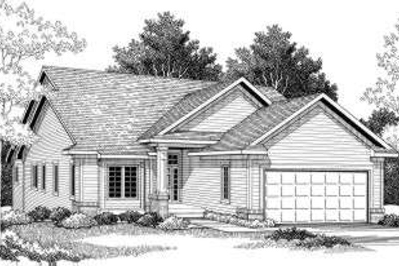 Ranch Exterior - Front Elevation Plan #70-774