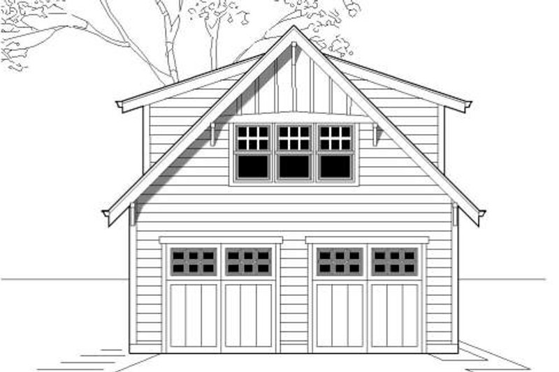 Craftsman Style House Plan - 0 Beds 1 Baths 500 Sq/Ft Plan #423-20 Exterior - Front Elevation