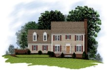 Home Plan Design - Colonial Exterior - Front Elevation Plan #56-125