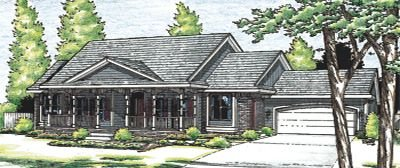 Traditional Exterior - Front Elevation Plan #20-738 - Houseplans.com