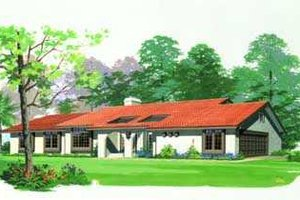 Mediterranean Exterior - Front Elevation Plan #72-121
