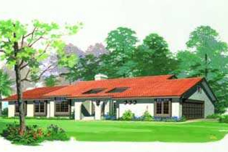 House Blueprint - Mediterranean Exterior - Front Elevation Plan #72-121