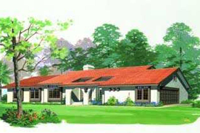 Dream House Plan - Mediterranean Exterior - Front Elevation Plan #72-121