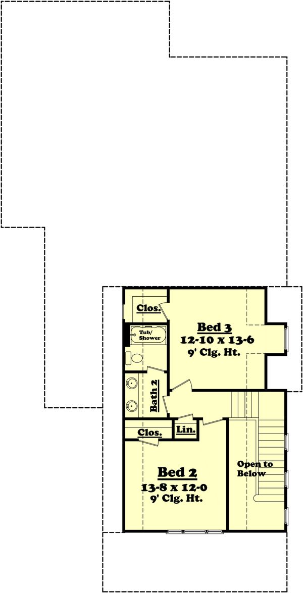 Farmhouse Floor Plan - Upper Floor Plan Plan #430-76