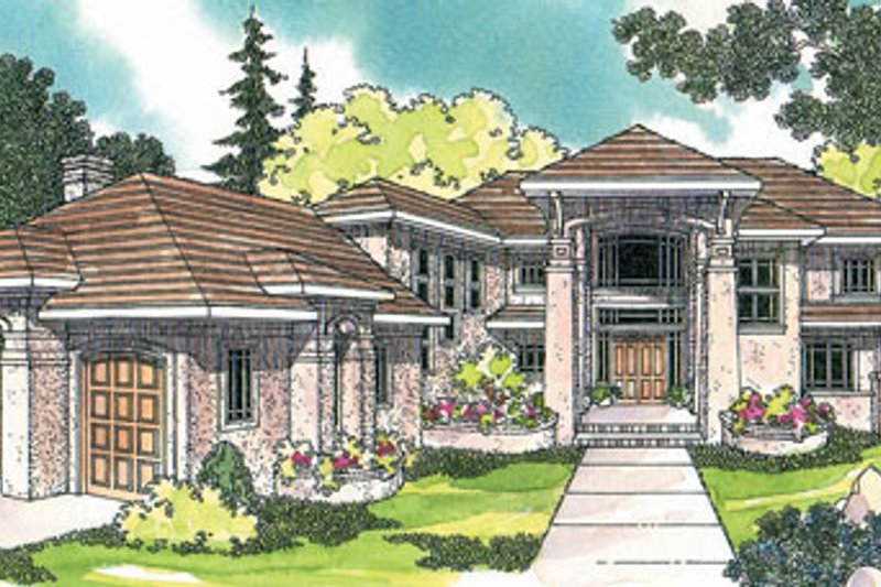 Craftsman Exterior - Front Elevation Plan #124-393