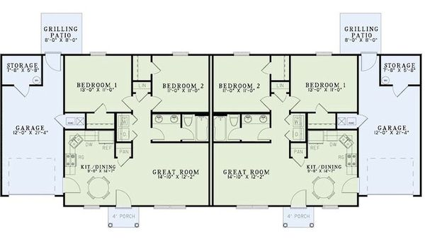Traditional Floor Plan - Main Floor Plan Plan #17-2403