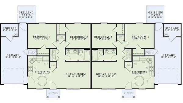 Traditional Floor Plan - Main Floor Plan #17-2403