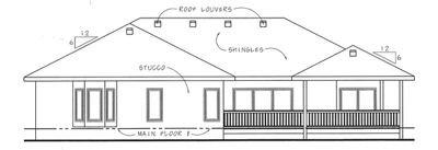 Mediterranean Exterior - Rear Elevation Plan #20-1757 - Houseplans.com