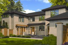 Dream House Plan - Mediterranean Exterior - Rear Elevation Plan #48-243