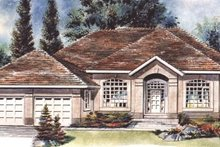House Blueprint - European Exterior - Front Elevation Plan #18-180