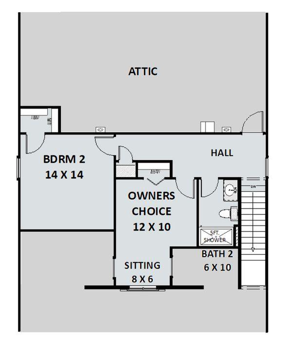 Country Floor Plan - Upper Floor Plan Plan #44-197