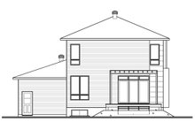 House Plan Design - Rear View - 1850 square foot modern home