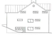 Home Plan - Traditional Exterior - Rear Elevation Plan #117-169