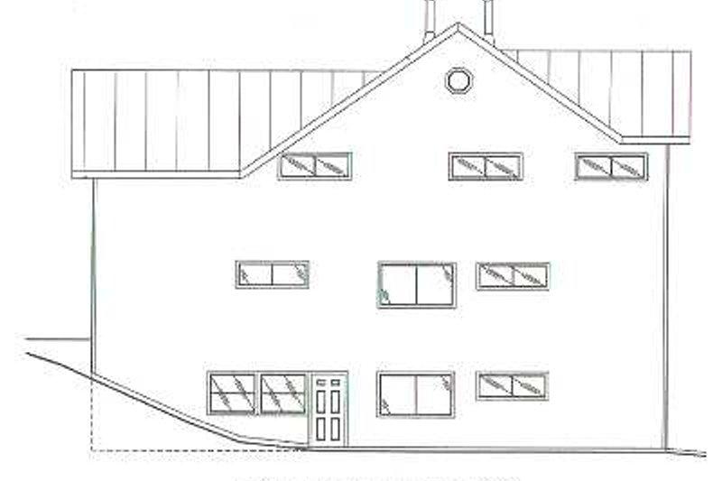 Traditional Exterior - Rear Elevation Plan #117-169 - Houseplans.com