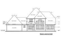 House Plan Design - European Exterior - Rear Elevation Plan #20-261
