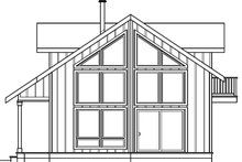 Cabin Exterior - Rear Elevation Plan #124-510