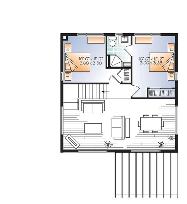 Home Plan - Contemporary Floor Plan - Upper Floor Plan #23-2631